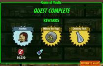 FoS Game of Vaults rewards