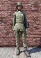 FO76 Army Fatigues with Helmet