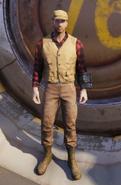FO76 hunter safety vest red beige male