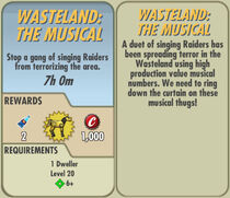 FoS Wasteland The Musical card