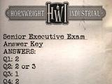 Senior executive exam answer key