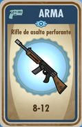 FOS Rifle de asalto perforante carta