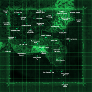 Point Lookout map with locations