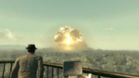 Fallout 3 Megaton Explosion in HD 720p Day and Night scene