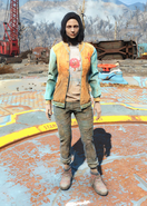 Fo4 Bottle and Cappy Orange Jacket and Jeans female