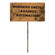 Fallout 76 Protest Sign 3 Against Automation