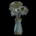 Teal flared vase.png