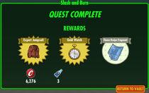 FoS Slash and Burn rewards