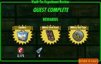 FoS Vault-Tec Experiment Review C rewards