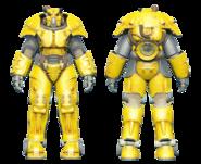 FO4CC X-01 power armor yellow