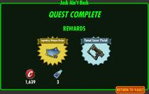 FoS Jack Ain't Back rewards