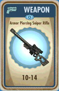 FoS Armor Piercing Sniper Rifle Card