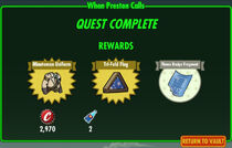 FoS When Preston Calls rewards