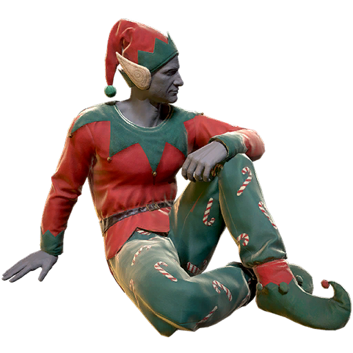 Festive elf outfit
