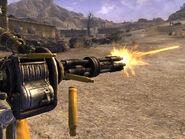 Minigun firing