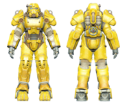 FO4CC T-60 power armor yellow