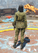 Militrary Fatigues, Back View (Female)