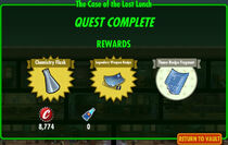 FoS The Case of the Lost Lunch rewards