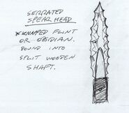 Serrated Spear Head