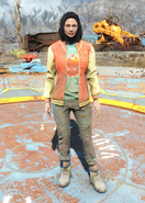 Fo4 Bottle and Cappy Red Jacket and Jeans female