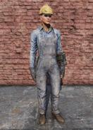 FO76 Steel Worker Uniform Full Female