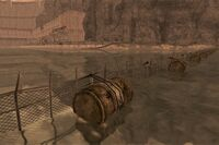 FNV Hoover Dam water buoy line close