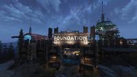 FO76WL Foundation Entrance Night