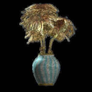 Teal barrel vase.png