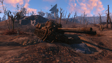 FO4 Wrecked tanks have repeater towers