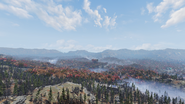 FO76 Savage Divide Mire overlook clear