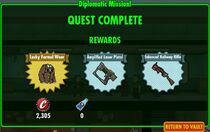 Fallout shelter diplomatic mission rewards