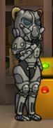A female vault dweller wearing the X-01 Mk IV power armor