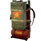 Atomic backpack redshift