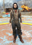 Fo4fh - Brown Fisherman's Overalls female
