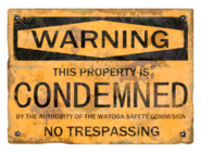 Condemned notification sign