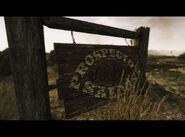 FNV Prospector Saloon signboard