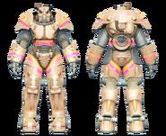 FO4CC X-01 power armor Slocum's Joe tan