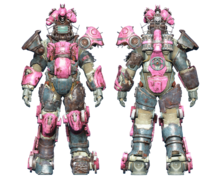 FO4CC Horse power armor pink