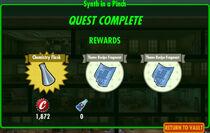 FoS Synth in a Pinch rewards