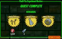 FoS Vault-Tec Experiment Review D rewards