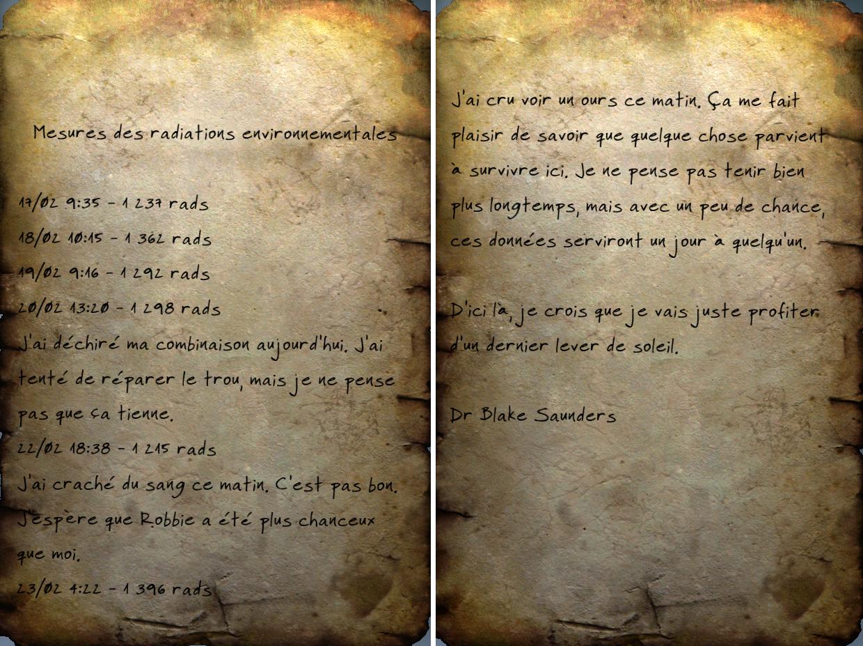 Message de recherches (Fallout 76)