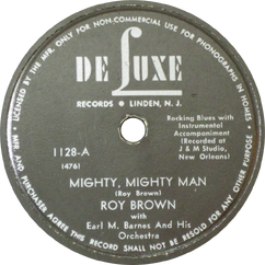 Roy Brown with Earl M. Barnes and His Orchestra - Mighty, Mighty Man.png