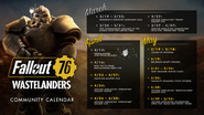 FO76WL Community calendar updated