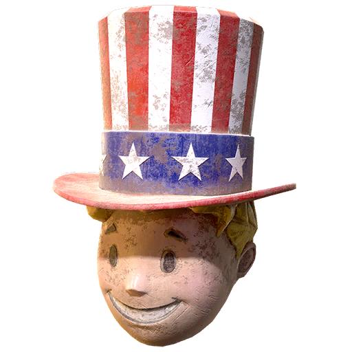 Patriotic Vault Boy mask