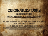 G.A.S. prize certificate