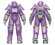 FO4CC T-45 power armor purple