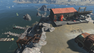 FO4 Salem coastal diner and dock overview