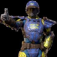 FO76 Atomic Shop - Vault-Tec metal armor paint