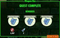 FoS Weapons Run - rewards