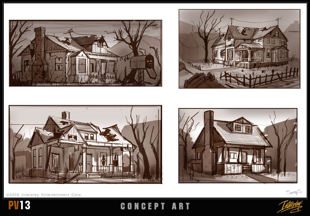 Ausir-fduser/Another piece of Project V13 concept art - house sketches